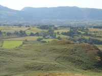 Nest Barn and Keswick from High Rigg